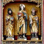 Mittelteil Schnitzaltar von 1507 mit Hl. Jodokus